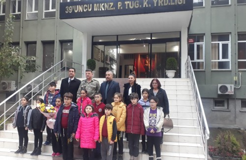 OKULUMUZDAN GARNİZON KOMUTANI ALBAY SANCAKTAR'A ZİYARET